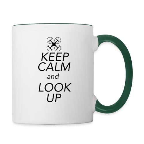 Keep Calm and Look Up - Mok tweekleurig
