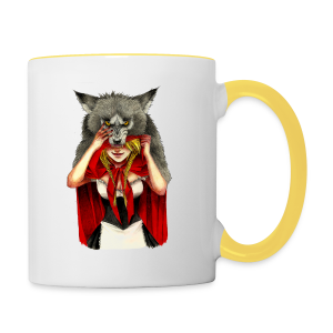 Little Red Riding Hood - Taza en dos colores