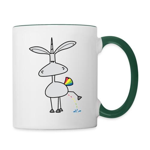 Dru - bunt pinkeln - Tasse zweifarbig