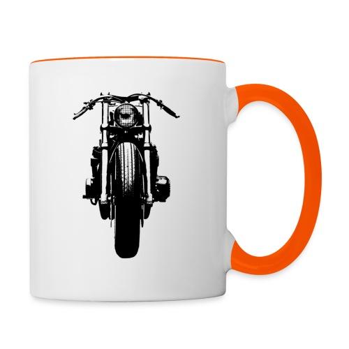 Motorcycle Front - Contrasting Mug