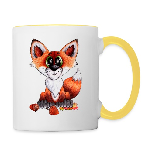 llwynogyn - a little red fox - Kaksivärinen muki