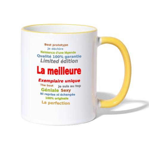 t shirt la meilleure sweat shirt coque et mugs - Mug contrasté