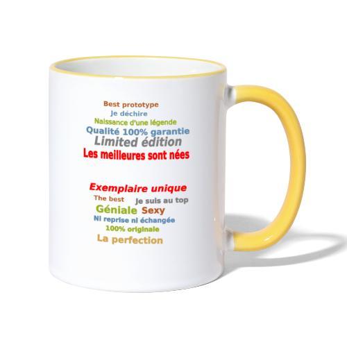 t shirt les meilleures sont nées sweat shirt mugs - Mug contrasté