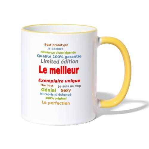 t shirt le meilleur sweat shirt coque et mugs - Mug contrasté