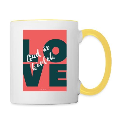 Gud är kärlek - Tvåfärgad mugg