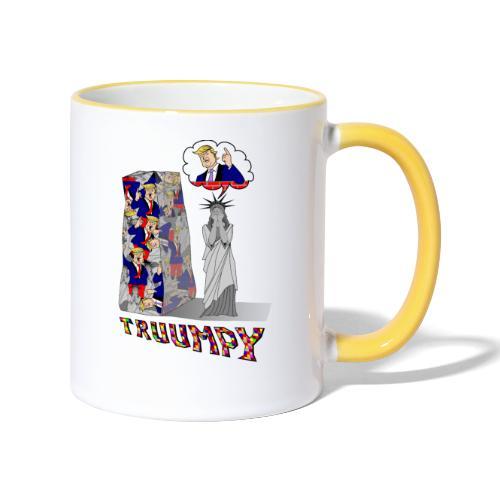 t shirt truumpy Trump niveau bas de la politique - Mug contrasté