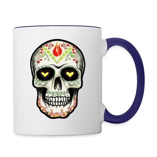TETE DE MORT 1 - Mug contrasté