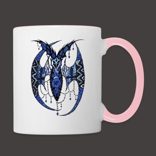 Chauve Souris Dentelle Bleue - Mug contrasté