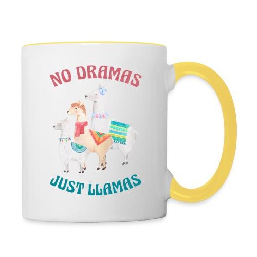No Dramas Just Llamas - Contrasting Mug