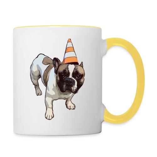 French Bulldog Party - Tasse zweifarbig
