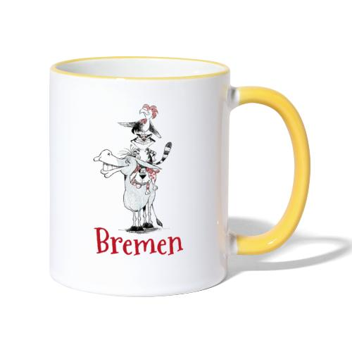 Bremer Stadtmusikanten - Tasse zweifarbig