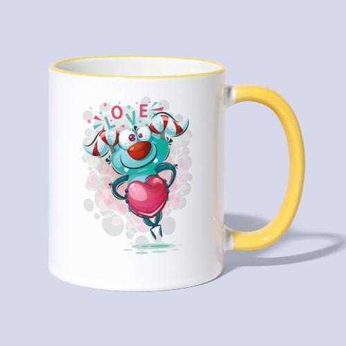 Monster cartoon love design - Contrasting Mug