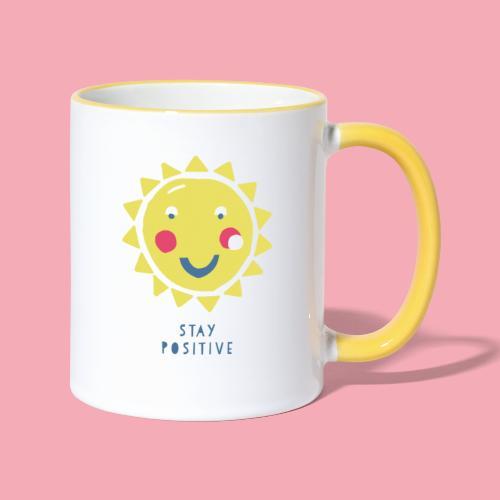 Stay positive // Sonne - Tasse zweifarbig