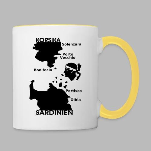 Korsika Sardinien Mori - Tasse zweifarbig