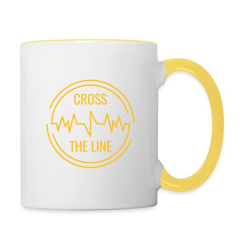CROSS THE LINE - Mug jaune - Mug contrasté
