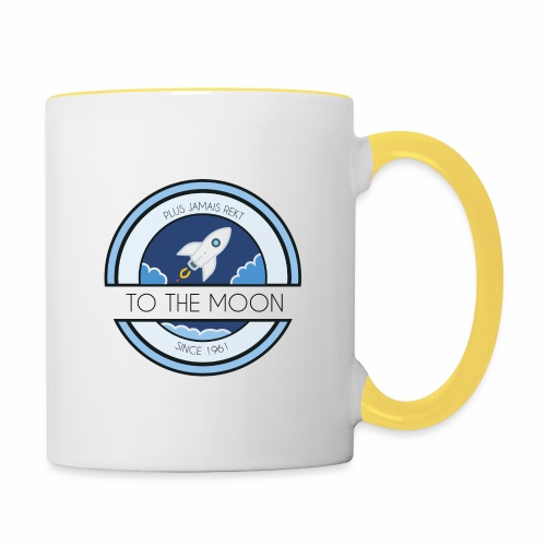 CryptoLoco - To the MOON ! - White - Mug contrasté