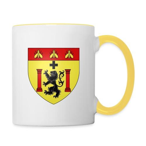 1000px Blason ville fr Besançon empire svg png - Mug contrasté
