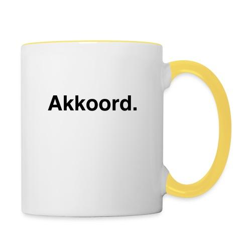 Akkoord - Mok tweekleurig