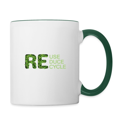 REuse REduce REcycle - Tazze bicolor