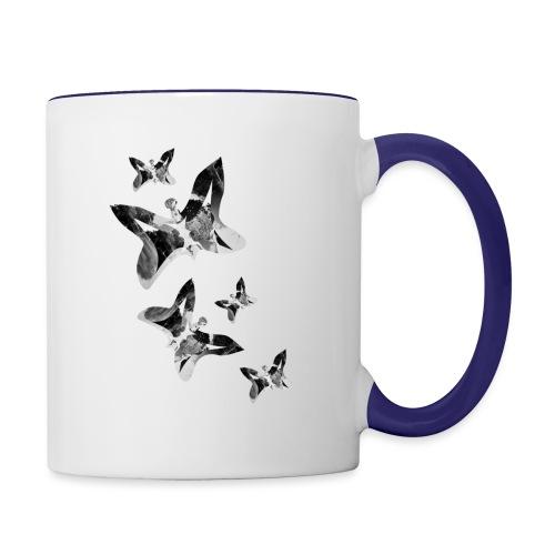 Schmetterlinge - Tasse zweifarbig