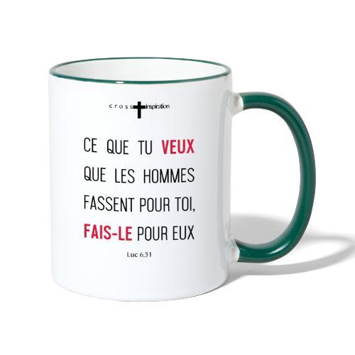 Regle d or - Mug contrasté
