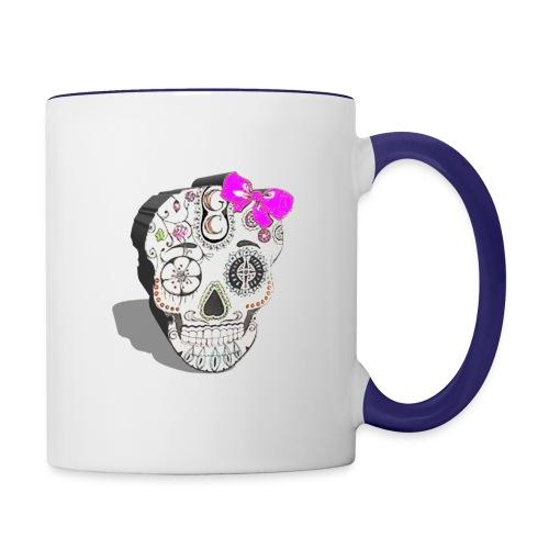 Tête de mort mexicaine 3D - Mug contrasté