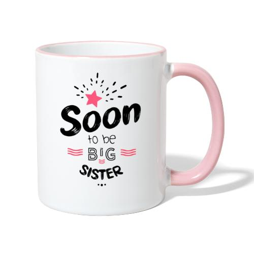 Soon to be big sister - Mug contrasté
