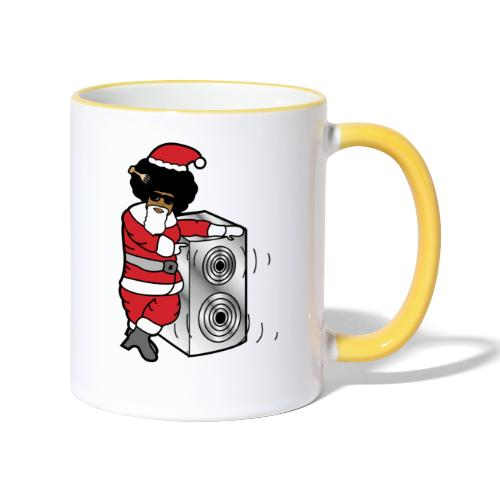 Afro Santa w/ Music Speaker - Contrasting Mug