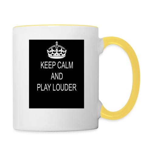 keep calm play loud - Mug contrasté