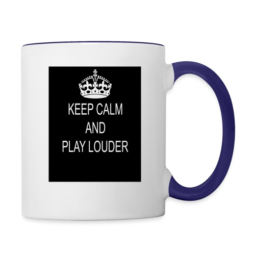 keep calm play loud - Mug contrasté