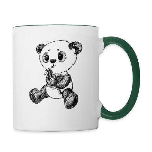 Panda Karhu musta scribblesirii - Kaksivärinen muki