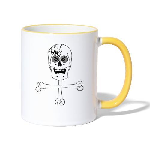Crâne et croix d'os …Halloween fais moi peur FS FC - Mug contrasté