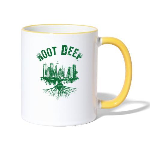 Root deep Urban grün - Tasse zweifarbig