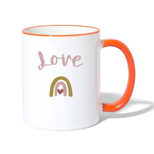 Love/Liebe - Tasse zweifarbig