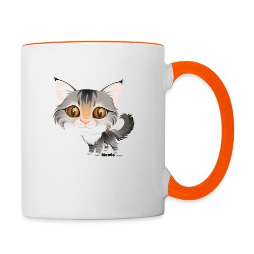Katze - Tasse zweifarbig