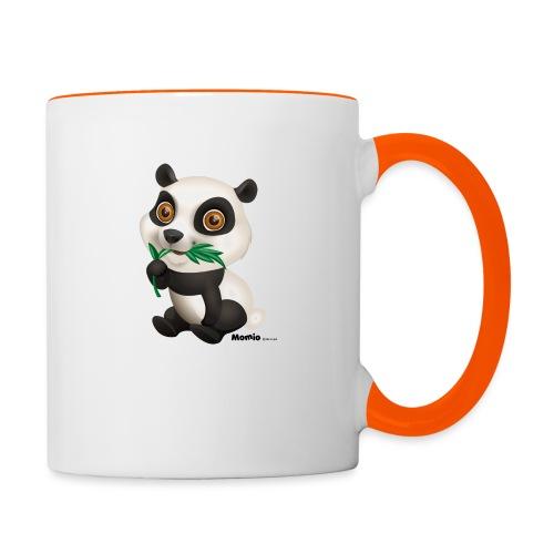 Panda - Tasse zweifarbig