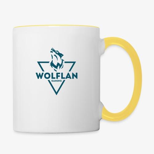 WolfLAN Logo Gray/Blue - Contrasting Mug