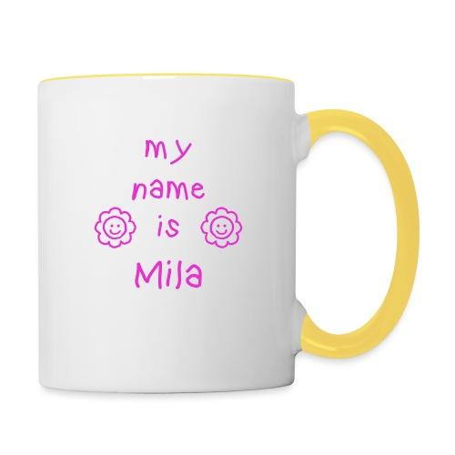 MILA MY NAME IS - Mug contrasté