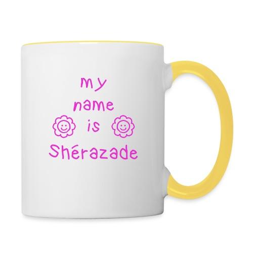SHERAZADE MY NAME IS - Mug contrasté