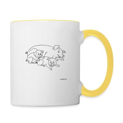 Cochon de lait. - Mug contrasté