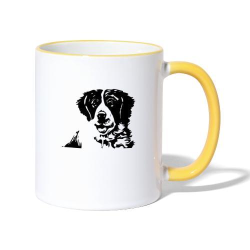 Barry - St-Bernard dog - Tasse zweifarbig