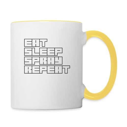 EATSLEEPSPRAYREPEAT - Contrasting Mug