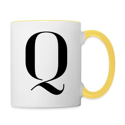 Q - Contrasting Mug