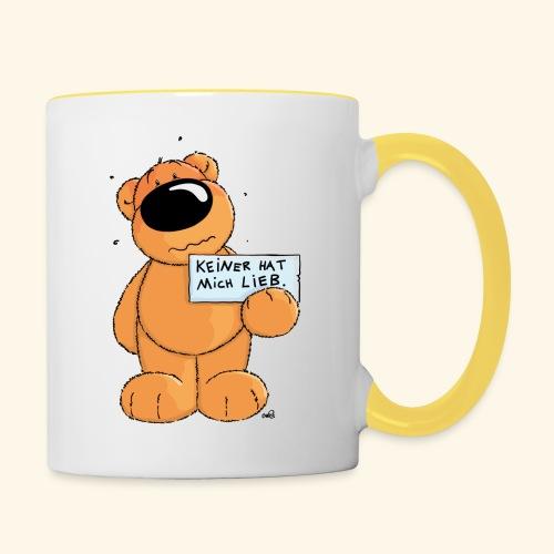 chris bears Keiner hat mich lieb - Tasse zweifarbig