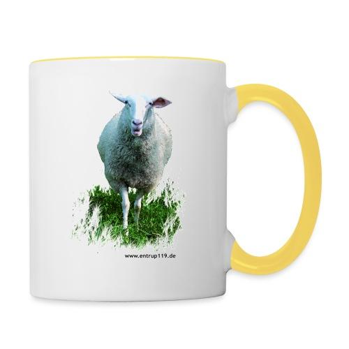 Gemaltes Entrup Schaf - Tasse zweifarbig