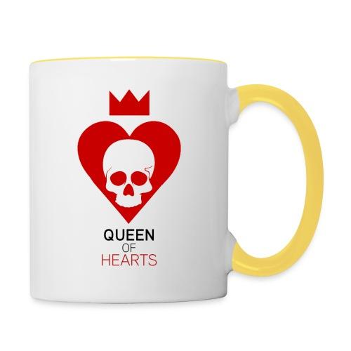 Tee shirt manches longues Reine des Coeurs - Mug contrasté
