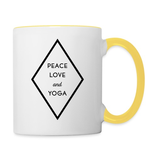 Peace Love & Yoga - Tasse zweifarbig