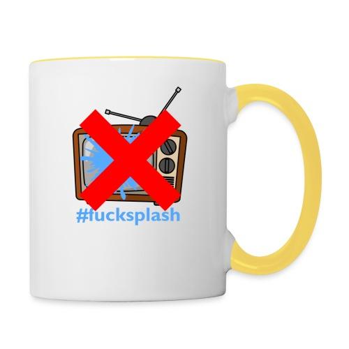 #fucksplash - Tvåfärgad mugg