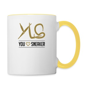 you love sneaker - Tasse zweifarbig