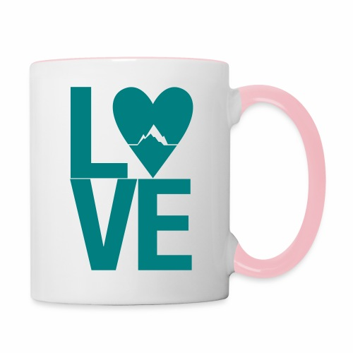 Mountain Love - Tasse zweifarbig